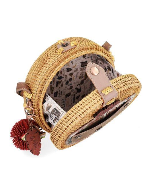 Дамска чанта Anekke - Jungle, еко кожа и естествена рафия