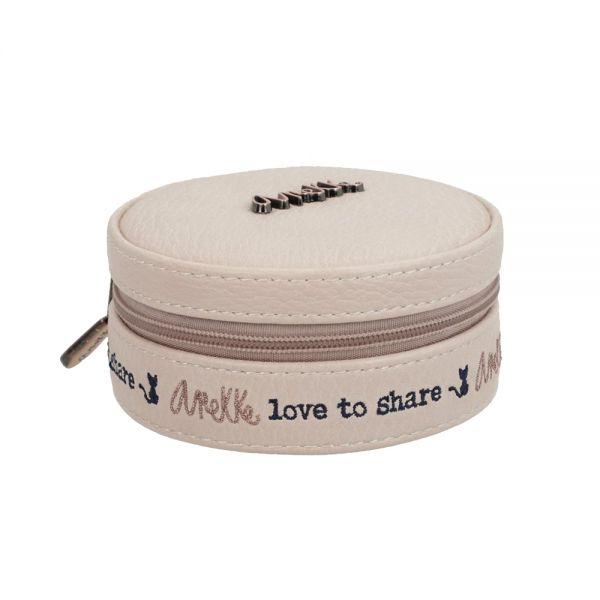 Кутия за бижута Anekke - светлорозова