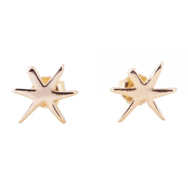 Обеци Anekke - Estrellas, позлатени