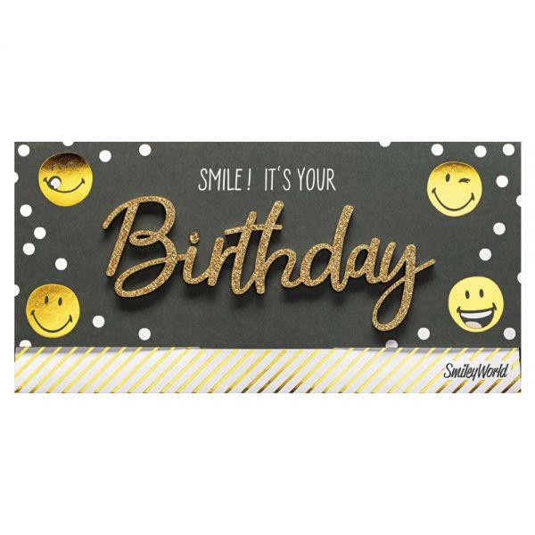 "Подаръчен плик за пари ""Happy Birthday - Smile"""