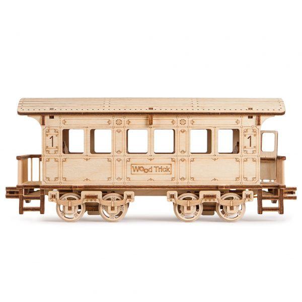 Механичен 3D пъзел Wood Trick - Локомотив R17, 405 части