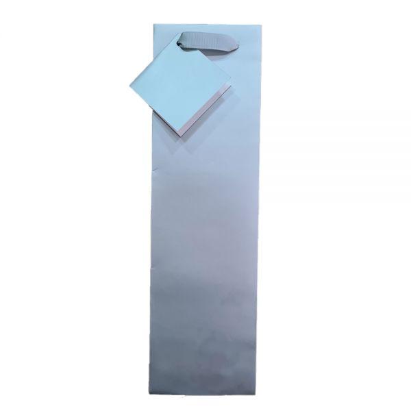 Подаръчно пликче Eurowrap - сребристо, 35.8 x 10.5 x 10 см