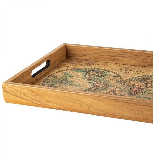 Дървен трей (табла) Manopoulos за сервиране 45x32 см.