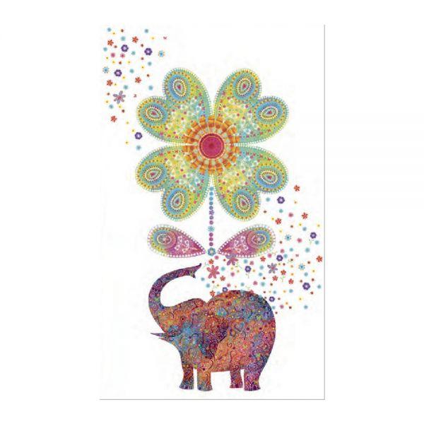 Поздравителна картичка със слонче