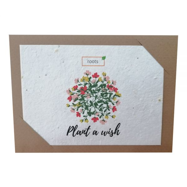 """Поздравителна картичка """"Посей желание!"""", със семена на диви цветя"""