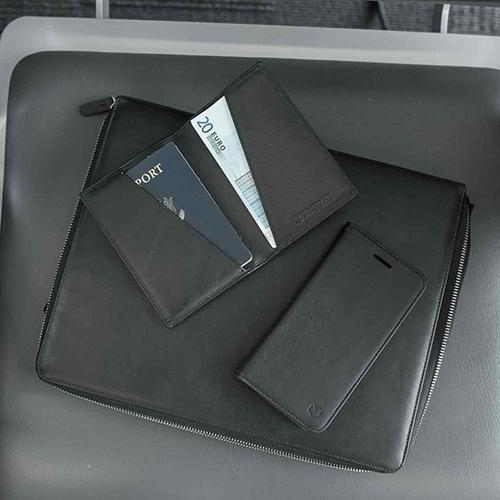 Вертикален портфейл Silent Pocket - Simple Passport SPW-V2SPBL, RFID защита, черен
