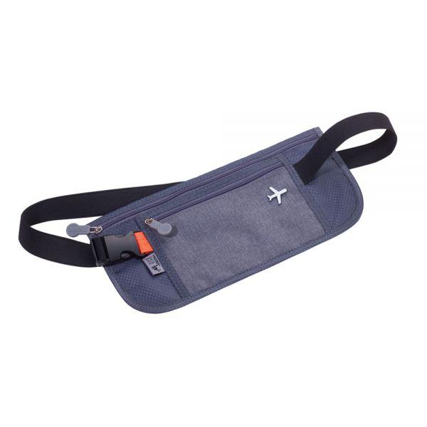 Чанта за през кръста TROIKA SICHERHEITSGURT, сива