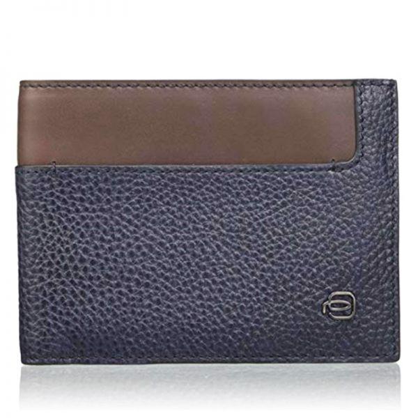 Мъжки портфейл от естествена кожа Piquardro с 12 отделения за карти и документи